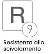 DIN51130 Resistenza allo scivolamento R9